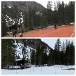 Aufbau Tennisplatz 2020 vs Zustand 2021