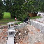 Fundamente aufziehen Liegeflächen