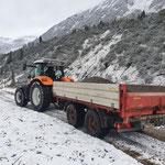 ...und Steyr Traktor mit Tandemhänger