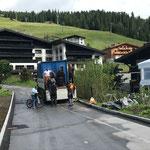 Abbau ACCR-Zelt