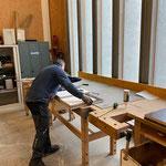 Arbeiten für die Neue Mittelschule in der Tischlerei