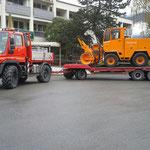 Schneefräsen Vorführung TÜV Frastanz, Rolba 600