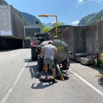 Entleerung in das Kanalsystem am Bauhof