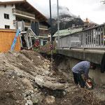 Wasserleitung freilegen Landbrugg