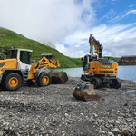 Grüner Ring - Vorbereitungsarbeiten, Fundament versetzen und einbauen aufgrund Baustelle Madlochbahn