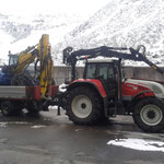 Menzimucktransport Steyr 6110 CVT
