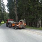 Waldbad Lech - Bagger-Rücktransport mit U1600