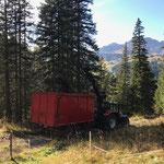 Äste holen mit Steyr 6190 CVT und Bigab Containerhänger Stubenbach