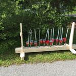 Waldbad Lech - Aschenbecherständer fertig
