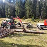 Forstarbeiten Zugertal, mit U1600 und Steyr 6240 CVT