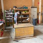 Wasserpumpe WC Spullersee, Holzkiste neu konstruieren