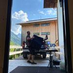 Lech Classic Festival Rückbau: Leihinstrumente Trachtenkapelle Lech ins Probelokal zurück transportieren