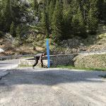 Buswartetafeln stellen Lech-Hochkrumbach