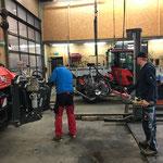 Umbau U400, Fass und Pumpe abbauen, Kipper montieren