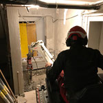 Schremmarbeiten für Liftbau im ehemaligen Schlauchturm Feuerwehrhaus