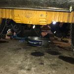 Reparatur an der Hydraulik des Lader 524