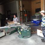 Holz-Wegebau-Arbeiten in der Tischlerei