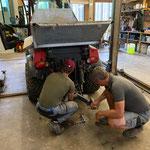 Holder umbauen in der Werkstatt