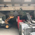 Altholz einfassen am Bauhof