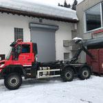 Klärschlammcontainer laden, ARA Lech, U530