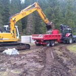 Waldbad Lech - Neubau Kinderbecken: Kiesschüttung