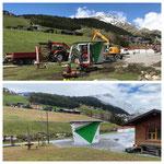 Schnee von gestern: Bauarbeiten Jugendplatz Kalenderwoche 19 2020 vs 2021