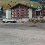 Baustelle Schlosskopfparkplatz aufräumen nach Kanalsanierung