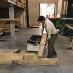 Vorarbeiten für Tischbau Wanderwege