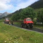 Langholztransport mit U1600, für provisorische Stromleitungsbrücke Stammgästetreffen