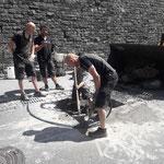 Mithilfe bei Behebung Heizwerk Lech Fernwärmeleitungsschaden