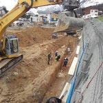 Wasserleitungsarbeiten, Baustelle Obere Berg