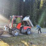 Schotterarbeiten mit Holder C70 SC
