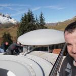 Schlosserarbeiten beim Sky Space in Oberlech