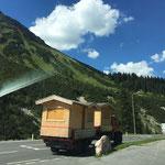 Hüttentransport, Zuger Dorffest. U400 + Hänger