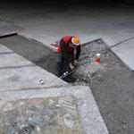 Kabelreparatur am Bauhof-Vorplatz