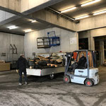 Altholz abladen am Bauhof