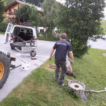 Reparatur Beleuchtungsturm Zuger Kirchle