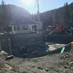 Waldbad Lech, Technikraum alt ausräumen...