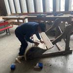 Liegenrenovierungsarbeiten in der Tischlerei