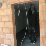 Elektriker- und Verputzerarbeiten Garderobenbereiche