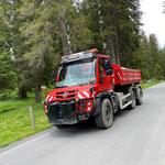Schüttmaterialtransporte für Baustelle Waldbad mit U530