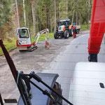 Bankett richten Parkplätze Waldbad