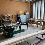 Sitzbankbau in der Tischlerei