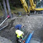 """Loipen-Schneeanlage Schneeflucht Zug, Wasserleitung """"anzapfen"""""""