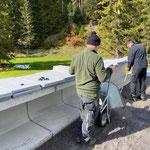 Aquafitbecken, Arbeiten für Plattenverlegearbeiten nach Setzen der Elemente