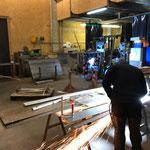 Sockelkorb und Fundamentplatte fertigen für Lawinenorgel Schafberg