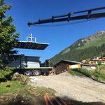 Zeltboden abladen und auslegen für Arlberg Classic Car Rally