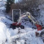 Gipsbachweg Schneeräumung für Fertigstellung
