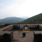 "Rajgir About 3 hours from Bodhgaya. ""The Hill of the Vultures"" The Lord Buddha set in mothion his second wheel of Law from here. Every year, for three months during the monsoon season, Lord Buddha preach many sermons to his disciples on Griddhakuta. In Ra"