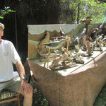 Wilfried Hahn und sein Vogelpanoptikum